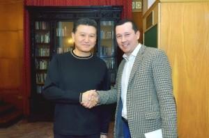 Кирсан Илюмжинов и Максим Оберман (Экзитерра)